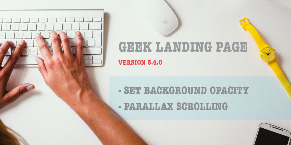 Geek Landing Page Version 3.4.0